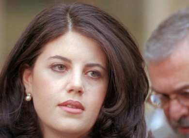 Former White House intern Monica Lewinsky