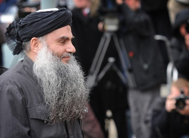 File photo of Abu Qatada in 2012.
