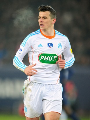 Barton playing for Marseille.