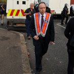 Democratic Unionist Party MP Nigel Dodds, prior to being injured after loyalists clashed police in North Belfast (Paul Faith/PA)