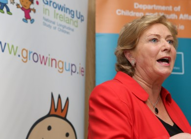 Minister Fitzgerald at he National Longitudinal Study of Children Report last month.