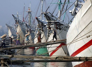 Traditional Indonesian fishing vessels