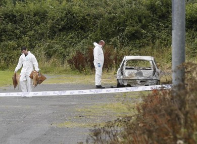 The forensic team at the scene today.