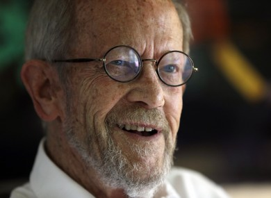 Elmore Leonard, passed away at his home this morning.