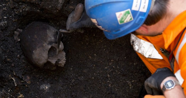 Ancient skeletons and medieval ice skates… all in a day's work for the Irish 'tunnel men' in London