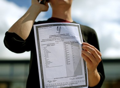 Mark Berney from Gorey Community College, Co Wexford qho got 9 A1s in his Leaving Cert.