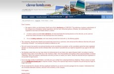 Holidaymakers hit as hotel website collapses