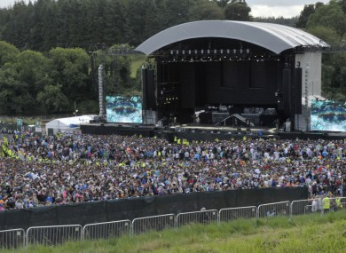 Crowds at the Eminem concert at Slane Castle on Saturd
