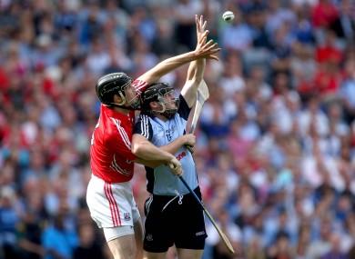 Dublin's David O'Callaghan and Shane O'Neill of Cork.