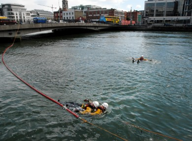 The Dublin Fire Brigade Rescue team are pictured during an water safety exercise. (File photo)