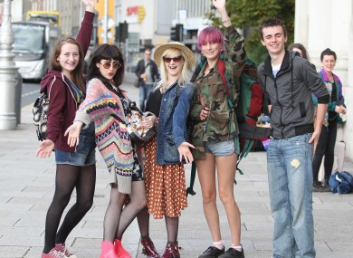 Five friends prepare for the Electric Picnic