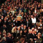 Mourners turn out in their droves for Oran Doherty's funeral. (Pic: Photocall Ireland)