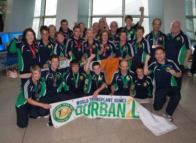 The Irish World Transplant Games team
