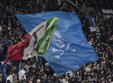 Lazio fans have been punished for their behaviour.
