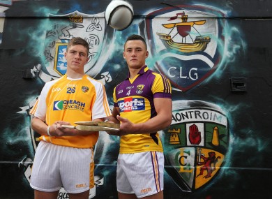 Ready for battle: Antrim captain Jackson McGreevy and Wexford captain Lee Chin.