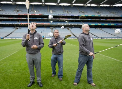 Limerick hurling Manager John Allen, Clare hurling manager Davy Fitzgerald and Dublin Hurling manager Anthony Daly.