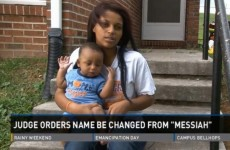 Judge orders baby Messiah's name to be changed as 'there's only one Jesus'