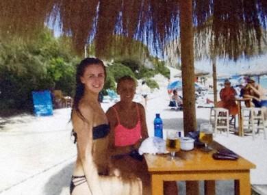 McCollum Connolly and Reid on the beach in Peru.