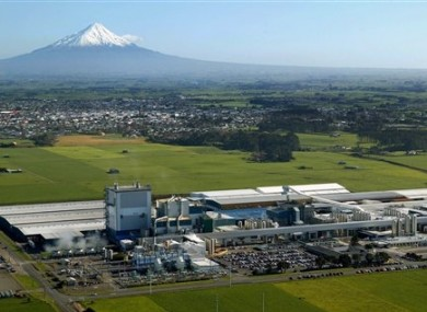 File photo of Fonterra#s Whareroa processing plant