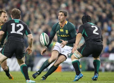Ruan Pienaar in action against Ireland last November.