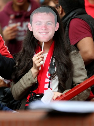 This Wayne Rooney fan would like to see him play Sunday.