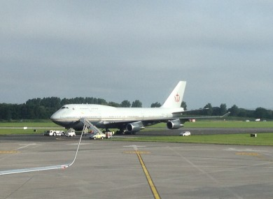 The Sultan's 747-400 on the tarmac at Dublin Airport