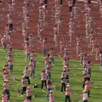 In February this year, 4,483 people hula hooped for seven minutes at a university in Bangkok (AP Photo/Sakchai Lalit).