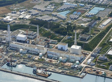 This aerial photo taken on 31 August 2013, shows the Fukushima Dai-ichi nuclear plant at Okuma in Fukushima prefecture, northern Japan.