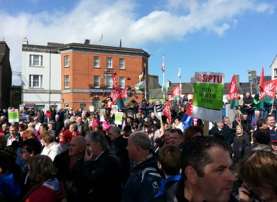 Protest in Ballinasloe today