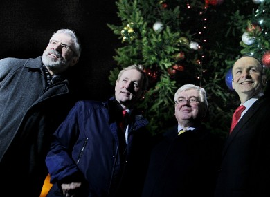 The party leaders: Gerry Adams, Enda Kenny, Eamon Gilmore and Micheál Martin