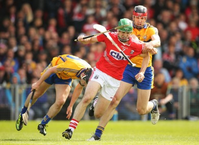 Cork's William Egan and Clare's Darach Honan.