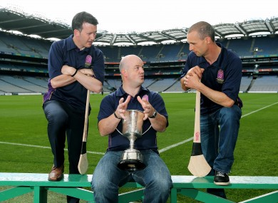 Donal Og Cusack, Ollie Baker and Tommy Dunne at the recent launch of the tournament.