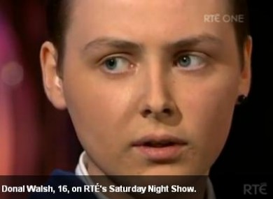 Donal Walsh on RTE's Saturday Night Show.