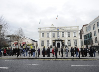 Dublin's Mansion House, where the Lord Mayor resides.