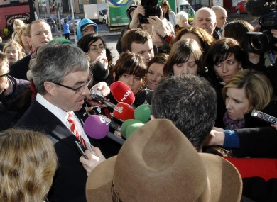 Court reporters outside the criminal court after the sentencing of Eamonn Lillis in 2010. (File photo)