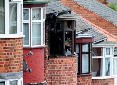 The scene of a house fire at Wood Hill, in the Spinney Hills area of Leicester which claimed the lives of four people.