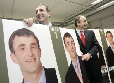 Chris Andrews will be taking himself and his posters over to Sinn Féin