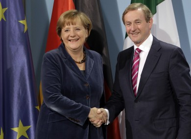 Enda Kenny with Angela Merkel last year