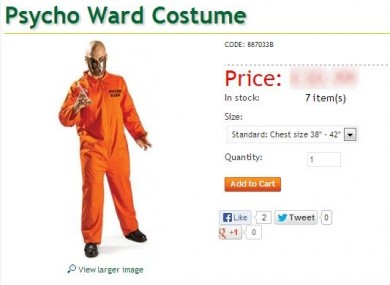 Tesco had this costume on sale until yesterday when it was withdrawn.