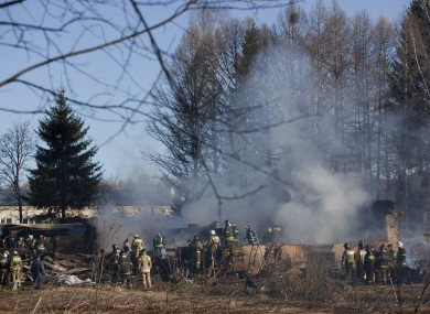 File: A fire in a psychiatric hospital in Moscow in April of this year.
