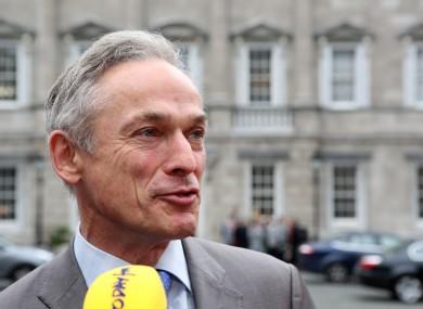 Richard Bruton outside Leinster House today