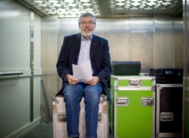 Ready to go: Sinn Féin leader Gerry Adams