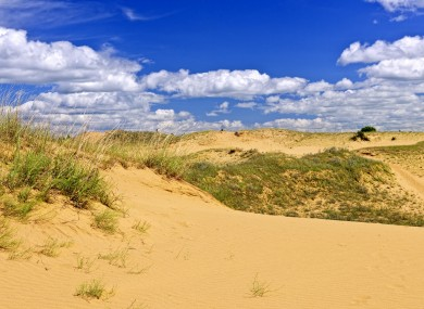 The Spirit Sands dunes in Manitoba province, Canada.