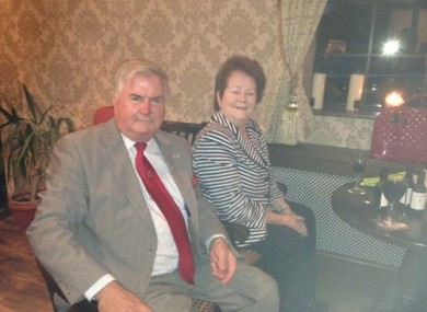 Mary O'Rourke and Terry Leyden in his new pub, which is a replication of the Dáil's Private Members' Bar.
