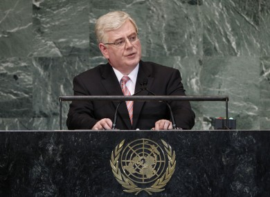 Eamon Gilmore speaking at last year's General Assembly