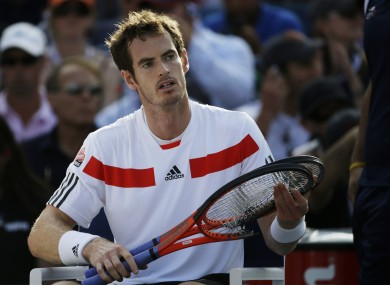 Andy Murray lost in straight sets this evening.
