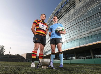 Willie Earle of Lasdowne and Andrew Boyle of UCD ahead of their clash tomorrow afternoon.
