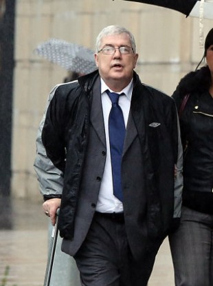 Liam Adams arrives in court today.