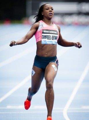 Campbell-Brown: won 200m Olympic gold in 2004 and 2008.