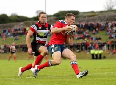 Conway scores for Munster A against Stirling County last week.